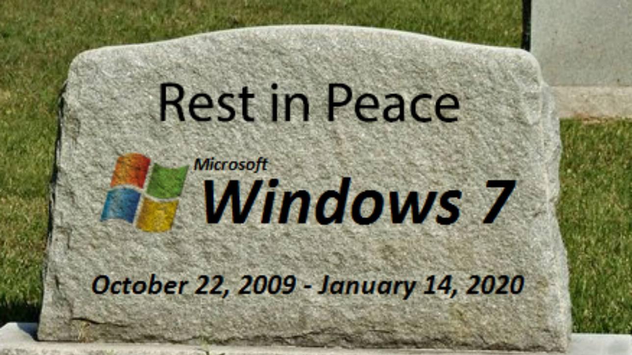 So langsam drängt die Zeit …..Windows 7 Support endet im Januar 2020
