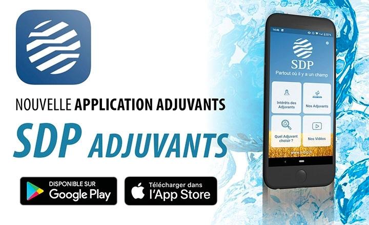 Application mobile SDP Adjuvants pour Android et Apple