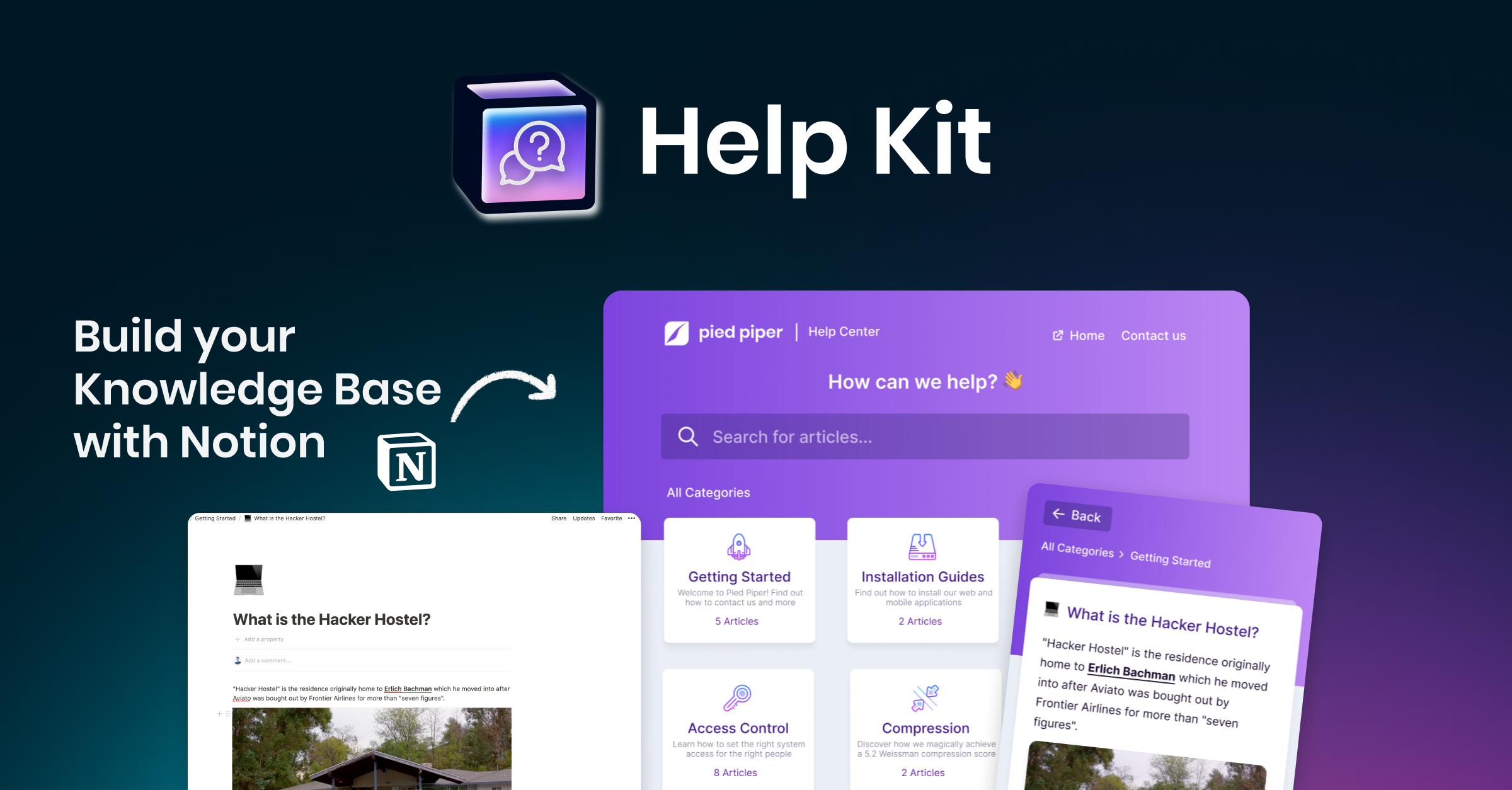 HelpKit - Build your Knowledge Base with the ease of Notion