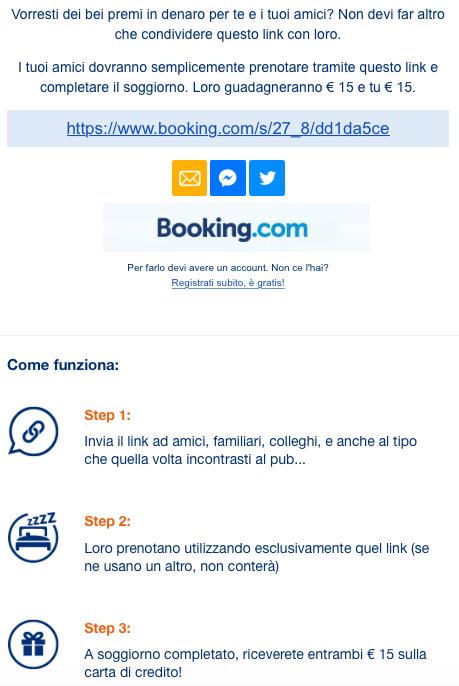 Booking Coupon 15 euro gratis Amici