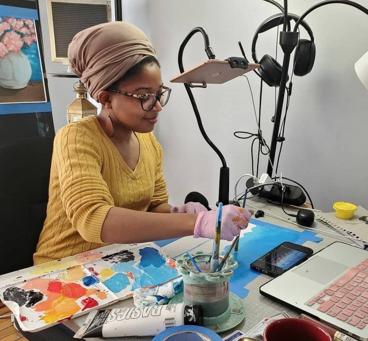 Virtual Paint Parties & Art Classes with Liz! 3
