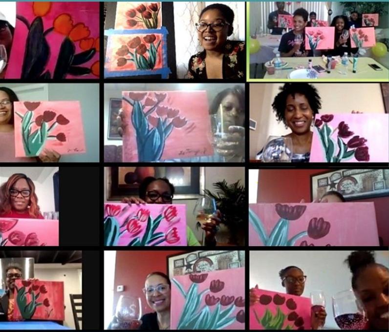 Virtual Paint Parties & Art Classes with Liz! 4