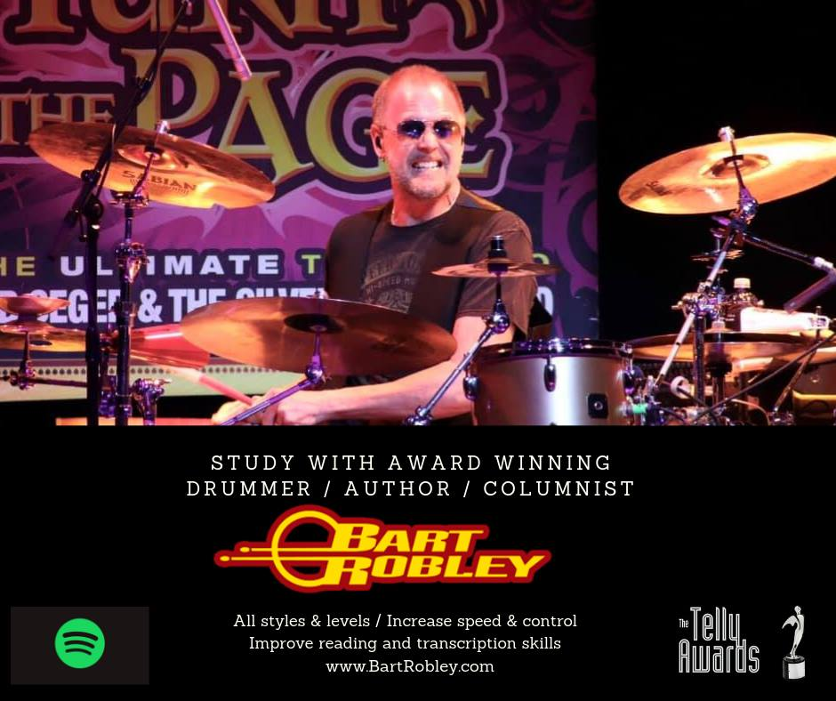 Drum Lessons with Award-Winning Drummer, Bart Robley 3