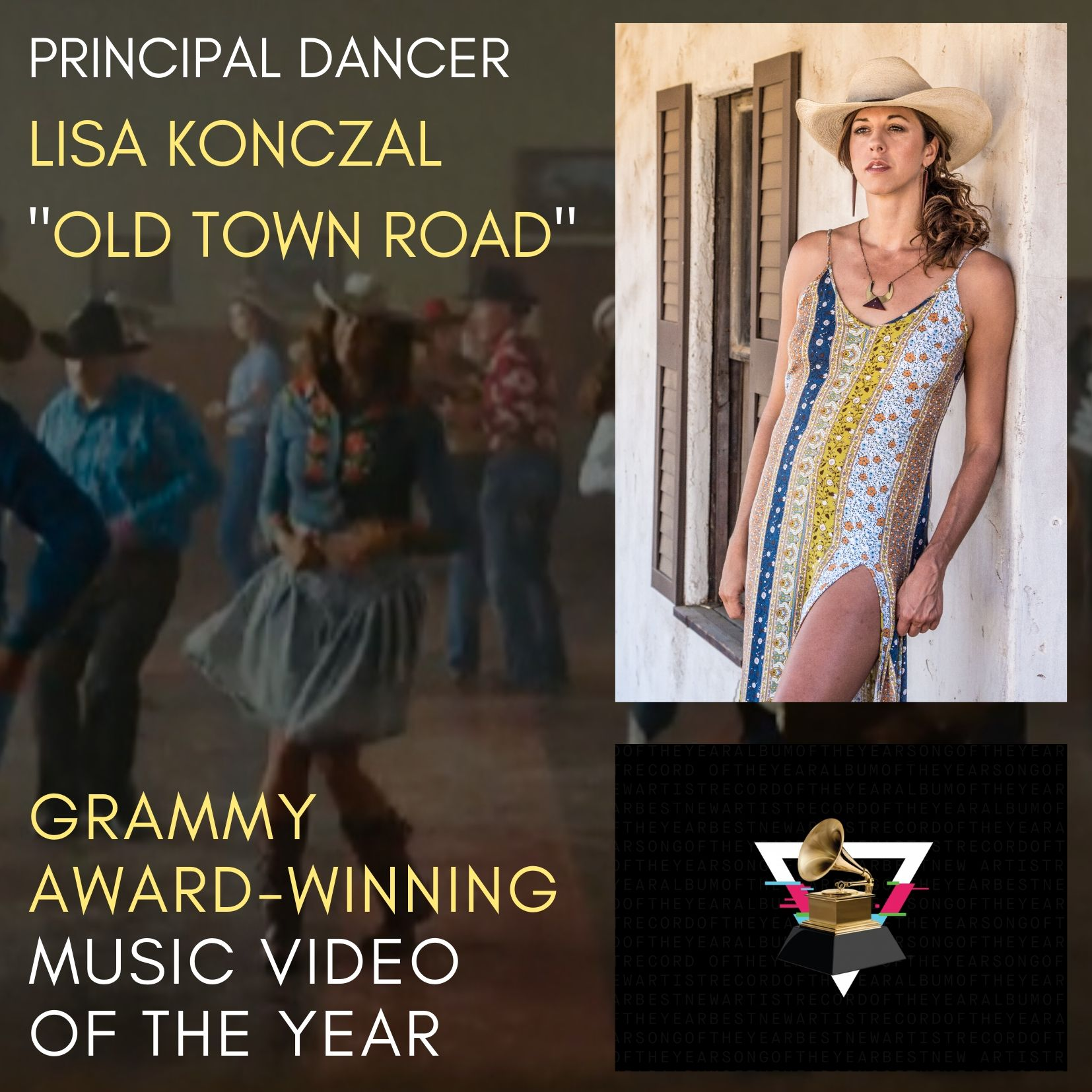"Line Dance  w/Grammy Award-Winning ""Old Town Road"" Principal Dancer, Lisa Konczal 1"