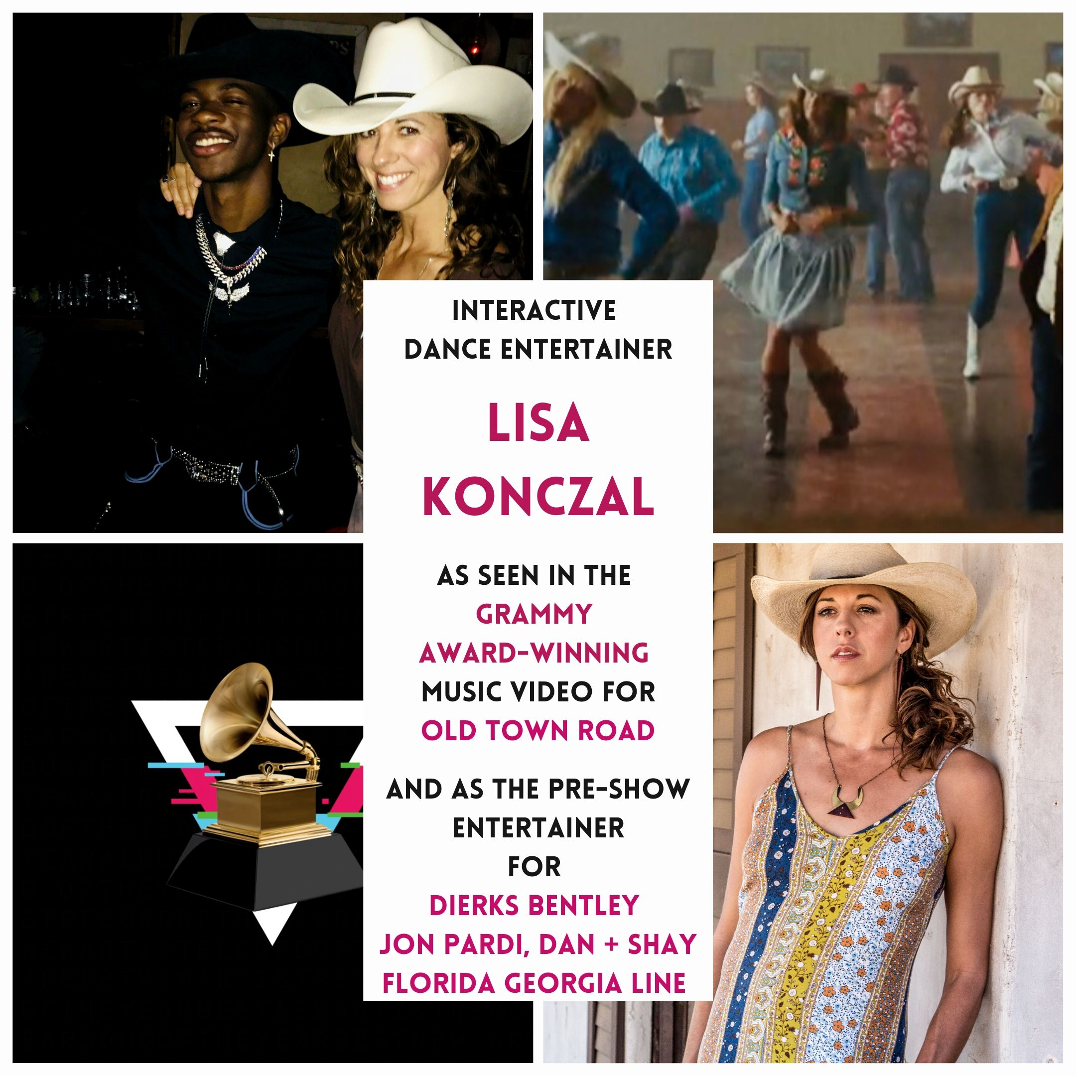 "Line Dance  w/Grammy Award-Winning ""Old Town Road"" Principal Dancer, Lisa Konczal 2"