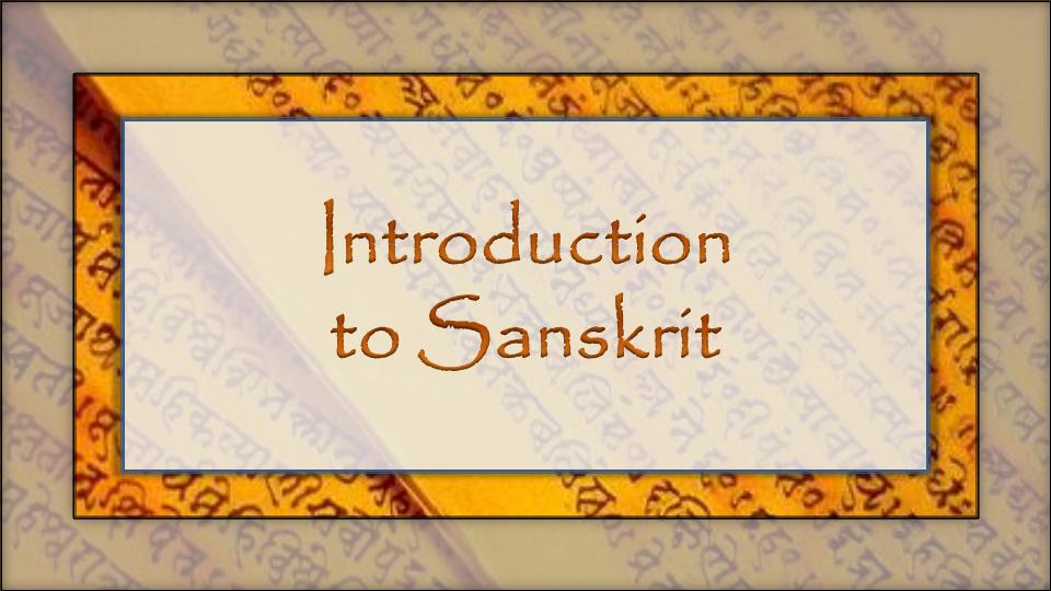 Intro to Sanskrit Language Camp for Kids 1