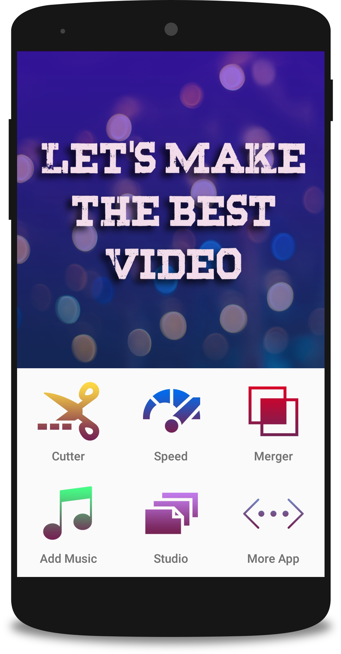 Video montage app helps you to edit videos, cut videos, add music to video or merge to videos into one