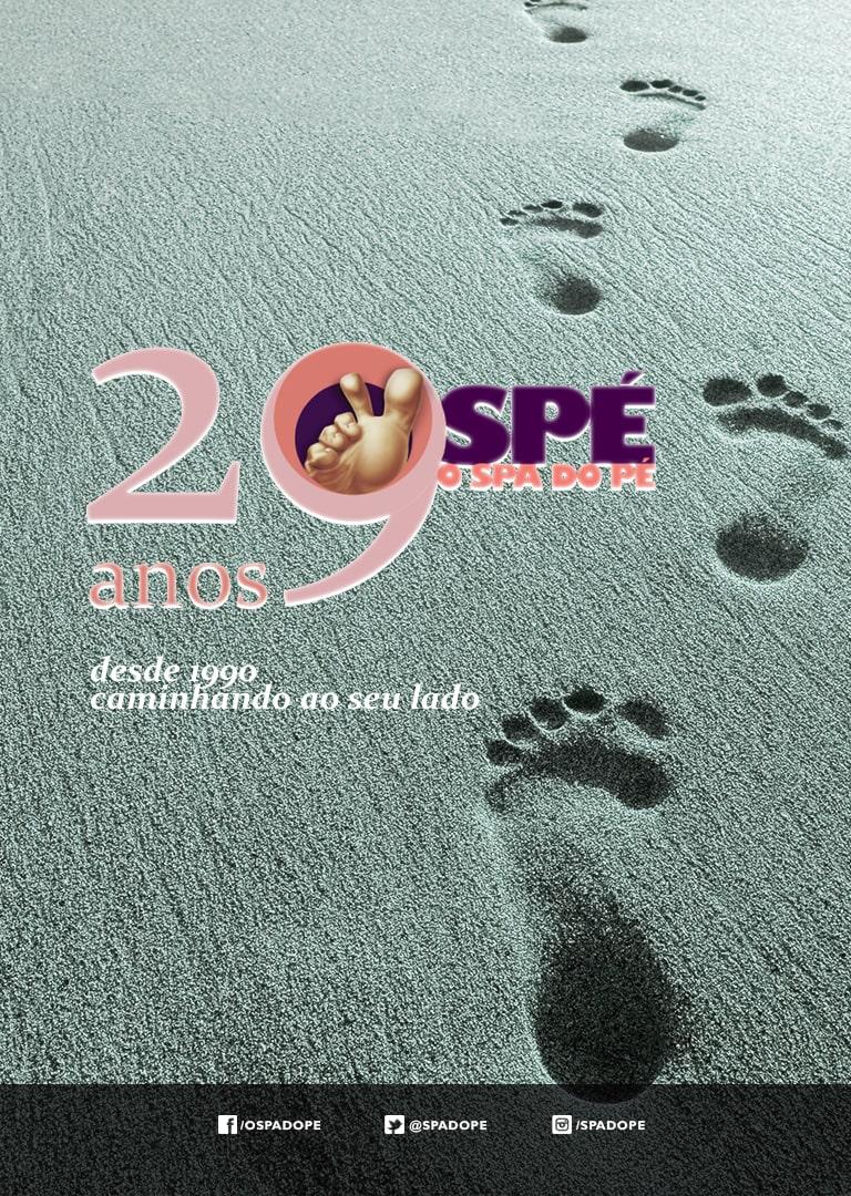 29 anos, spa do pé, SPÉ , caminhando ao seu lado,  29 anos Spé