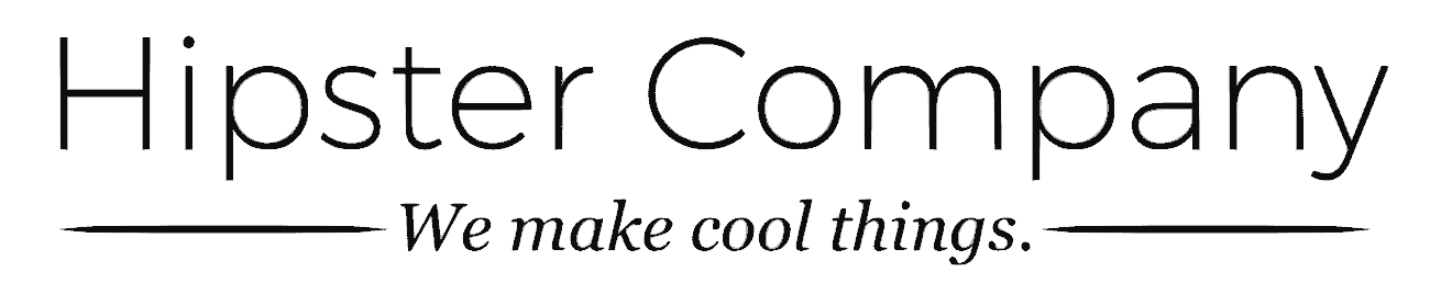 Hipster Company Using a Modern, Tech-Focused Font