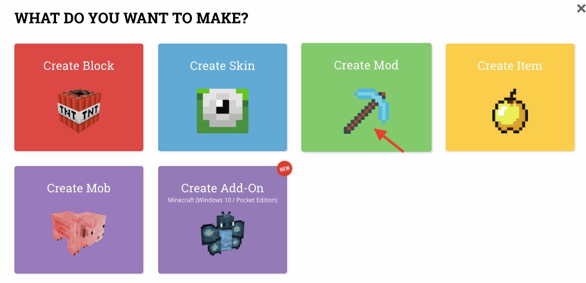 Click Create Mod