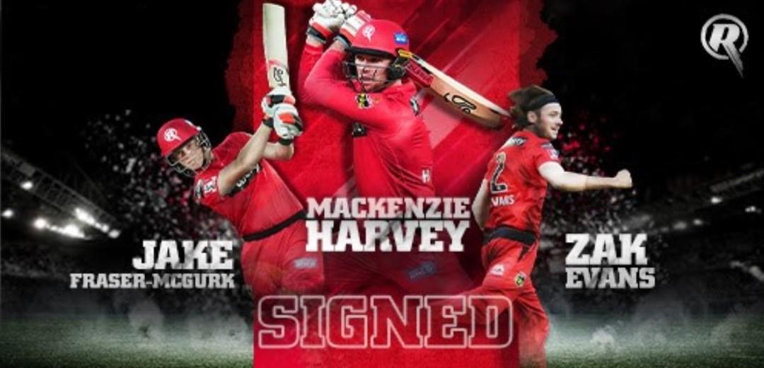 Melbourne Renegades Sign Harvey, Evans and Fraser-McGurk for two more BBL seasons