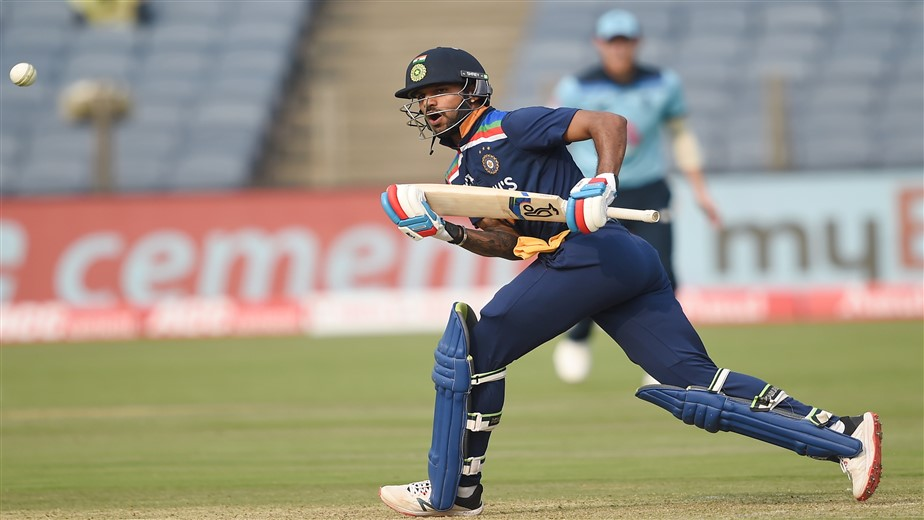 Dhawan's 98 and Krunal's sensational fifty on debut fire India to 317/5
