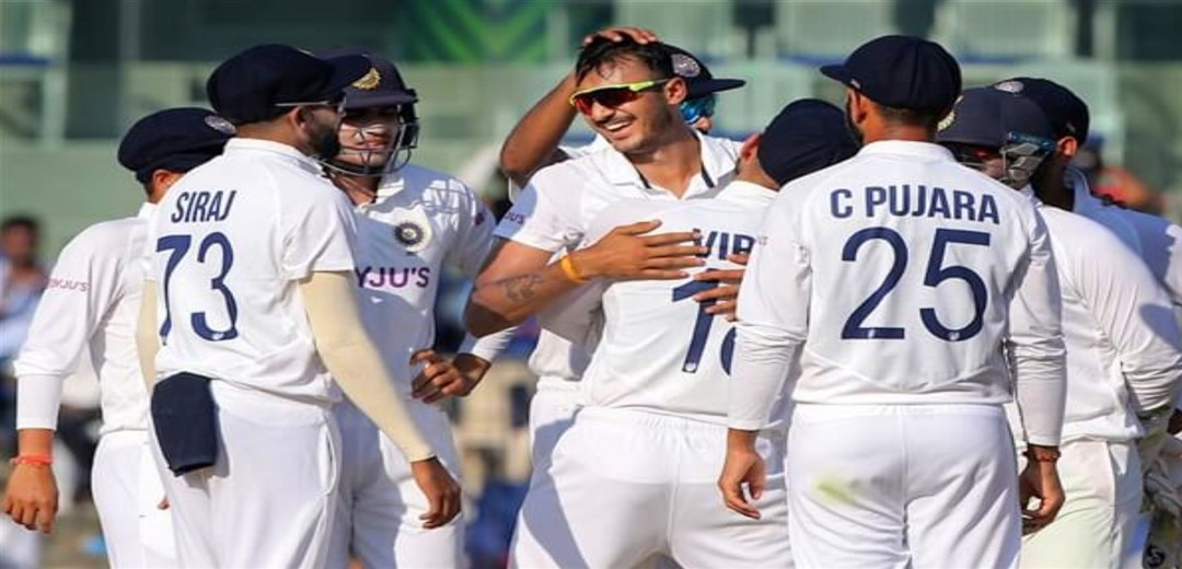 England dance to Patel Rap: Indian spinners demolish England by 317runs to level series 1-1