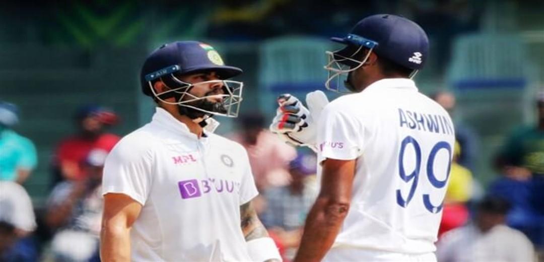 Kohli, Ashwin show how to bat on turning track, India's lead swells to 416