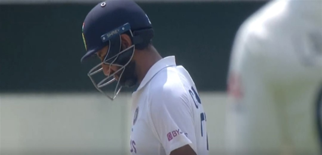 Blow on right hand while batting keeps Pujara away from fielding in England's innings