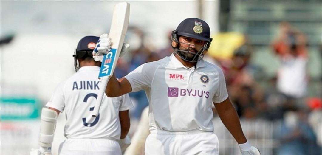 Hitman Classic Ton-up Rohit sweeps on Chepauk turner as India score 300/6 on Day 1