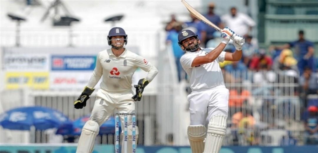 2nd Test Rohit Sharma's ton takes India to 189/3 at tea