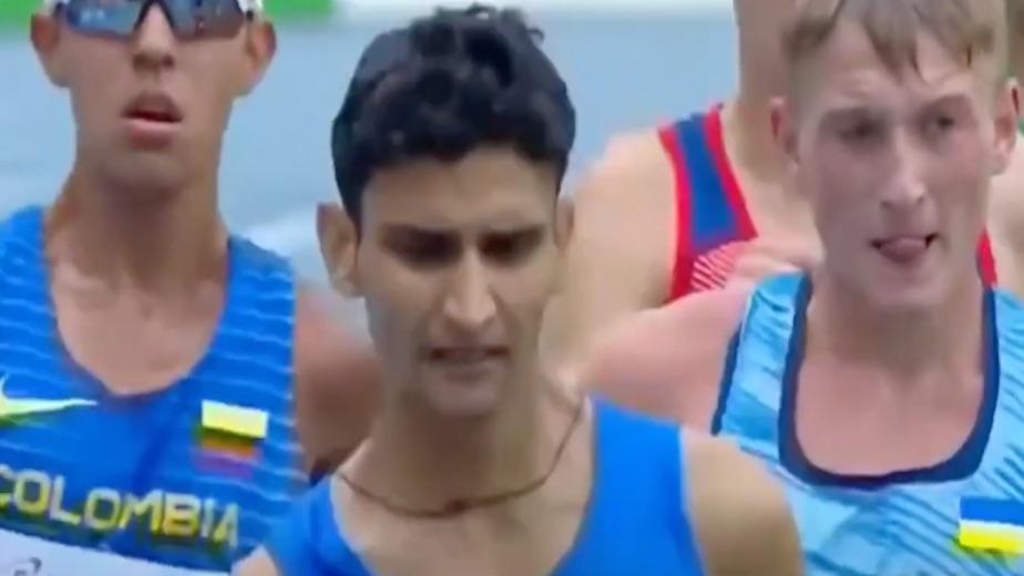 India's Amit Khatri wins silver in 10km race walk at World U-20 Athletics Meet