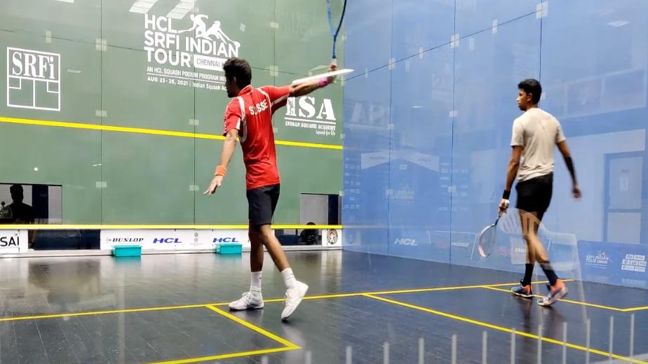 Squash challenger: Velavan Senthilkumar, Abhishek Pradhan in final