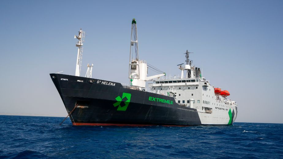 Extreme E's floating centrepiece, St. Helena arrives in Senegal