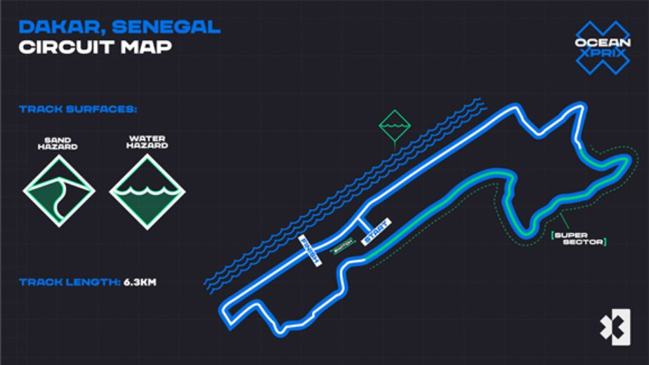 Electric off-road racing series Extreme E reveals Ocean X Prix course