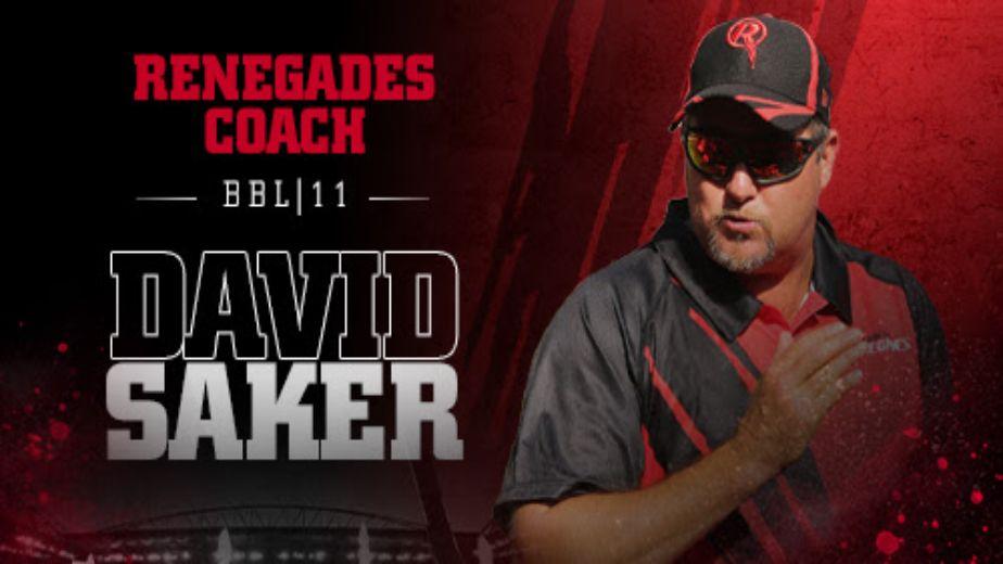 BBL: David Saker appointed Melbourne Renegades coach