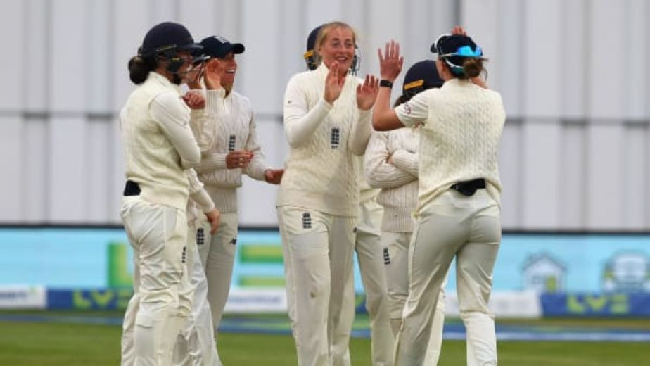 India's Shefali Verma puts a fight back against England on day three at Bristol