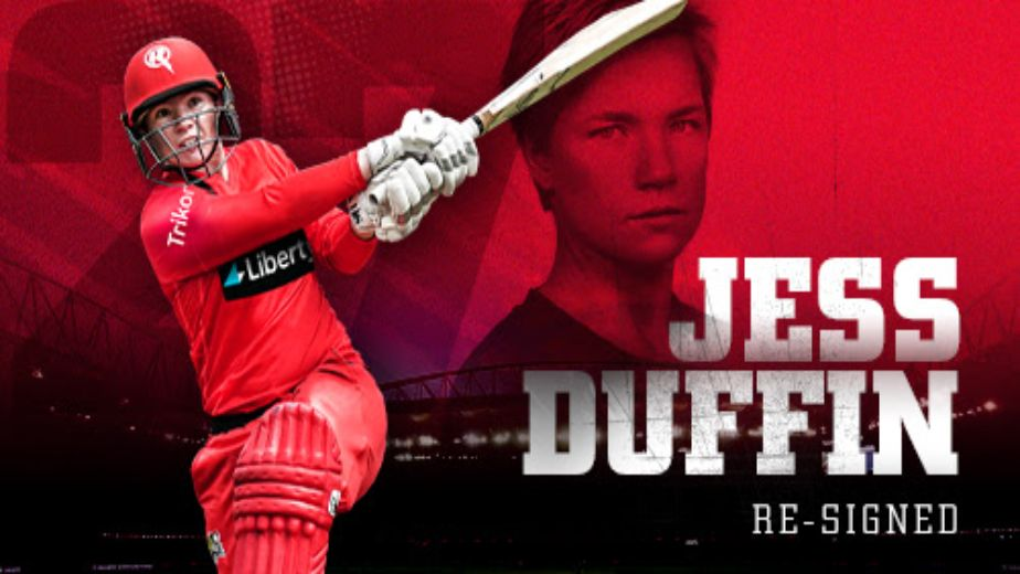 Jess Duffin has re-signed for Melbourne Renegades ahead of WBBL|07