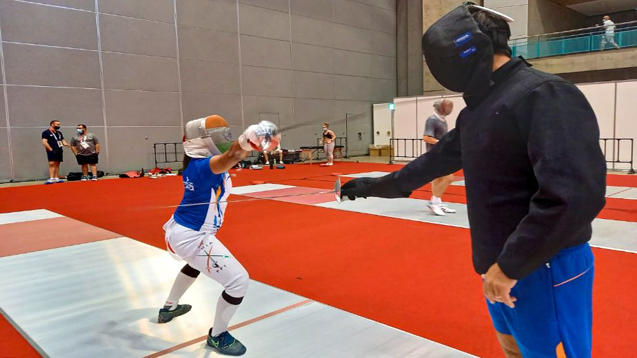 Bhavani Devi beats Tunisia's Ben Azizi to win India's first ever fencing match in Olympic history