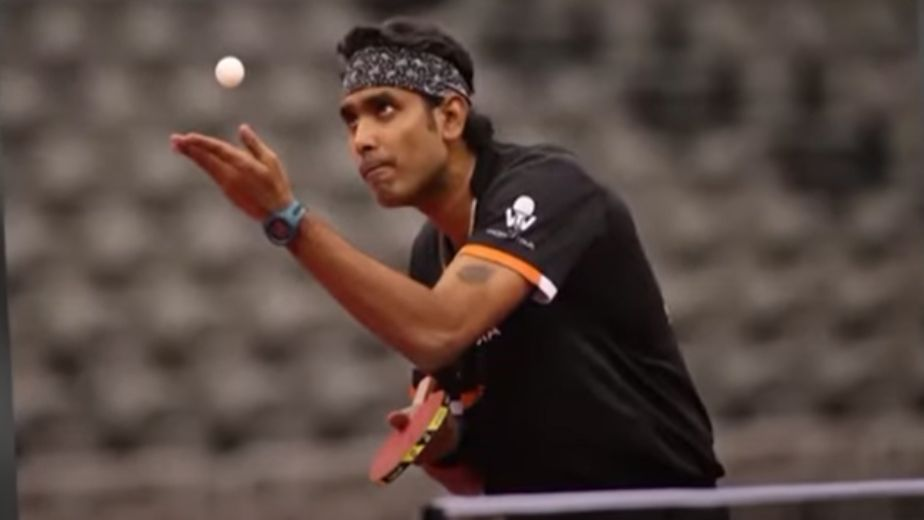 Indian paddler Sharath Kamal progresses to third round after win against Portugal's Tiago Apolonia