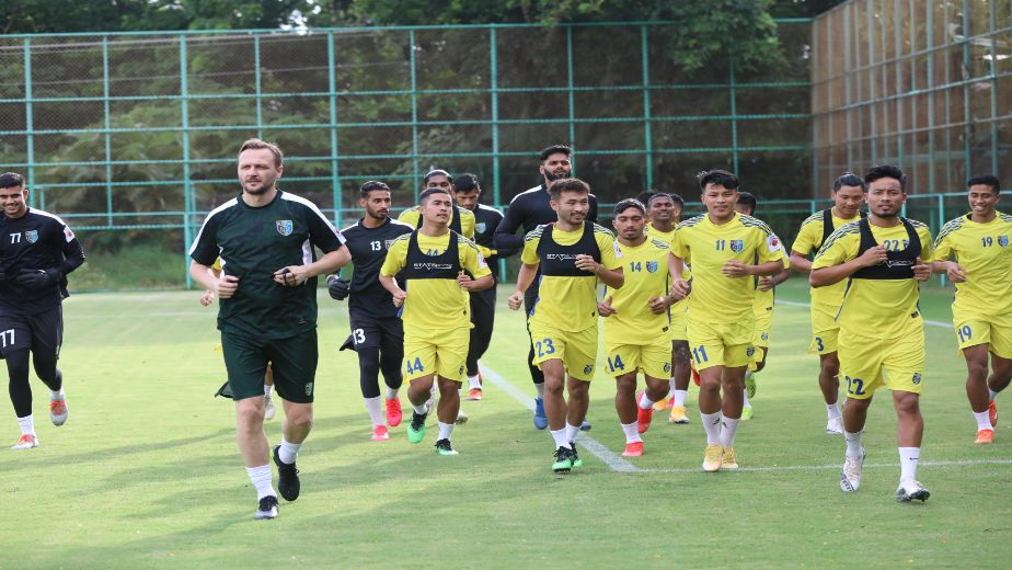 Kerala Blasters FC getting ready as they start the preseason training in Kochi