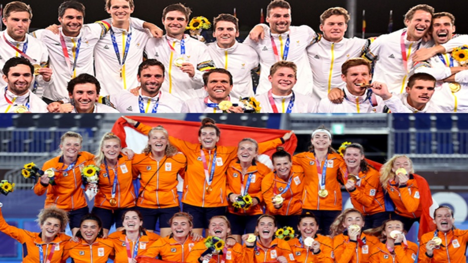 Belgium men and Netherlands women on top of the World Rankings, as Indian men and women climb up after Olympic Performance
