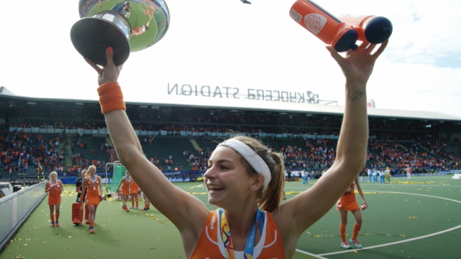 Netherlands hockey captain Eva de Goede wins a hattrick of gold medals at the Olympic Games