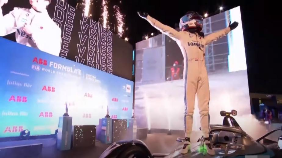 Mercedes AMG driver Nyck De Vries clinches the Formula E title
