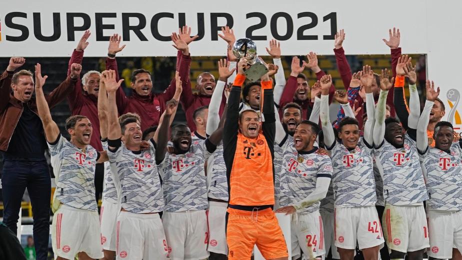 Robert Lewandowski's brace helps Bayern Munich retain the German Super Cup