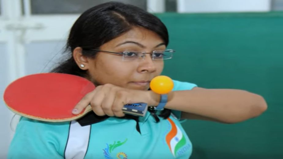 Bhavina Patel defeats Megan Shackleton of Great Britain 3-1 to progress into the Round of 16
