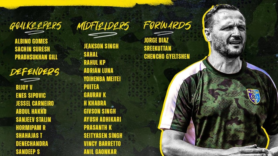 Kerala Blasters announce 19-man squad for the 2021 Durand Cup