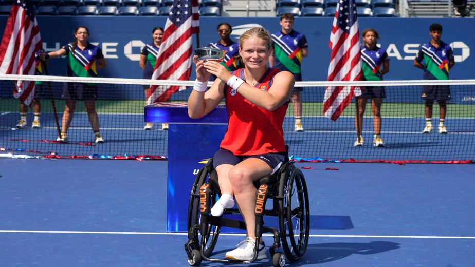 Paralympic stars Dylan Alcott and Diede de Groot create history by winning the Golden Slam in wheelchair tennis