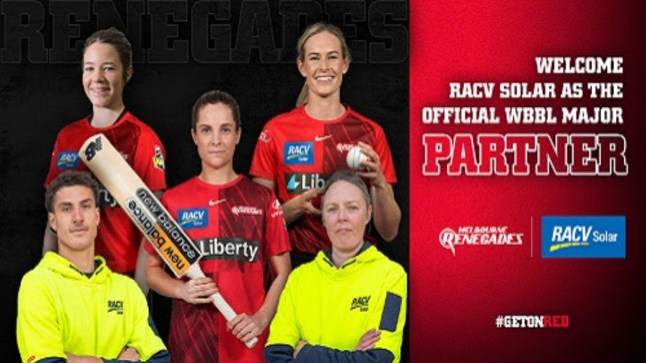 RACV Solar will become the official major partner for Melbourne Renegades