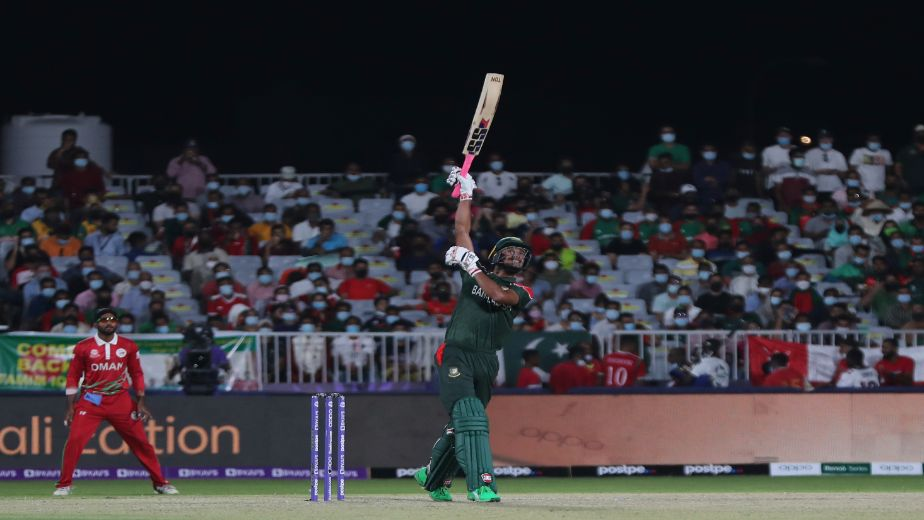 Bangladesh win first match of the ICC Men's T20 World Cup with a 26-run victory over Oman