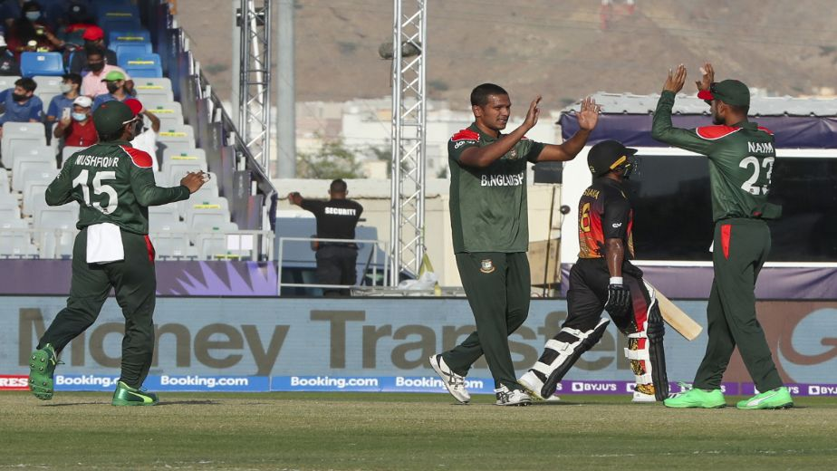 Bangladesh progress into the T20 World Cup Super 12s with magnificent victory against Papua New Guinea
