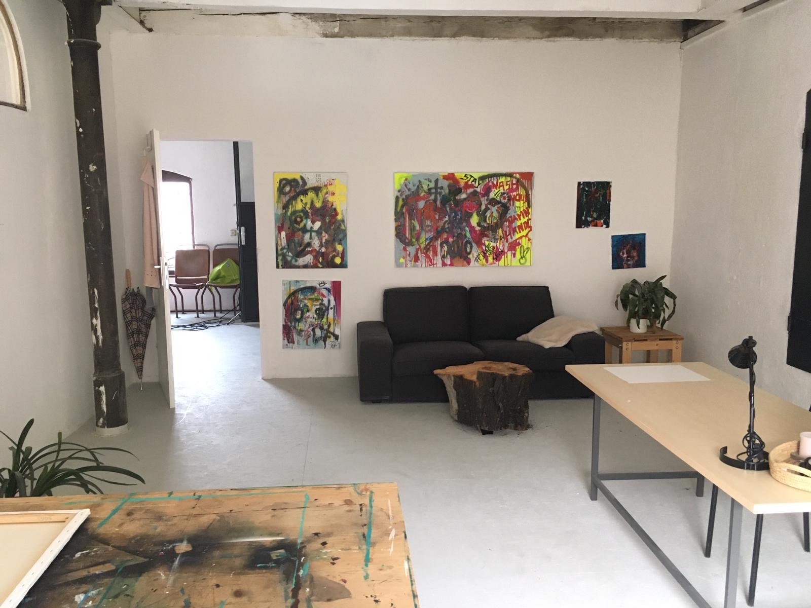 31m2 Raum in einem Gemeinschaftsatelier zu vermieten