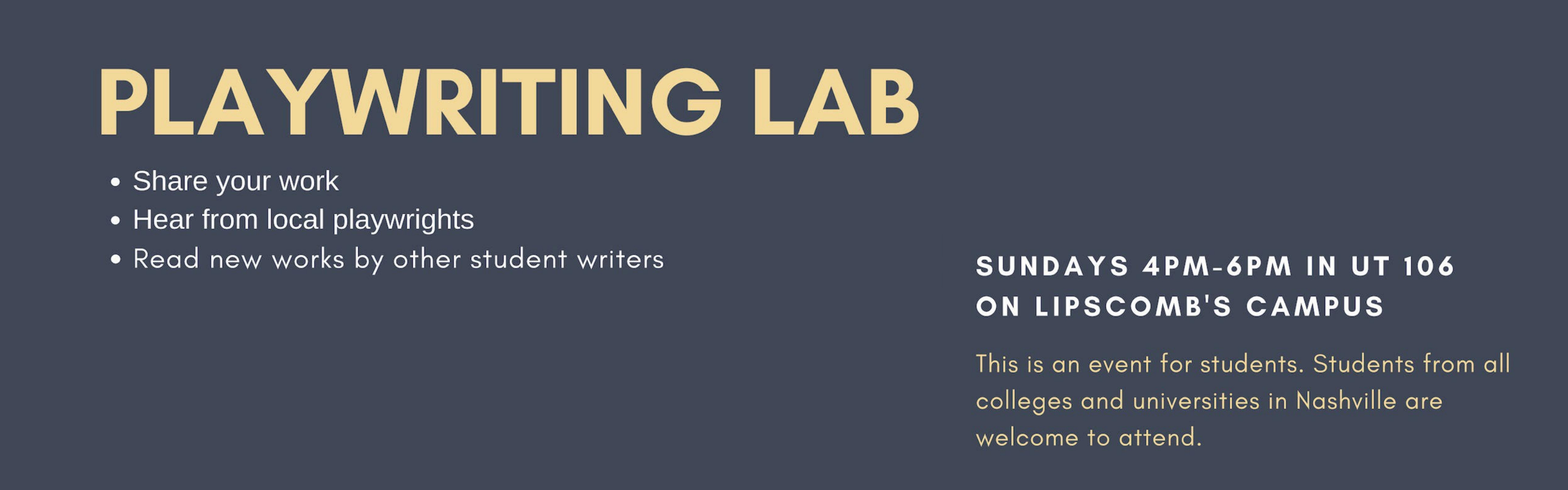 Playwriting Lab