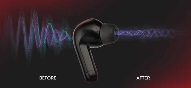 Mobi Hybrid Active Noise Cancelling 100 hr. Wireless Earbuds
