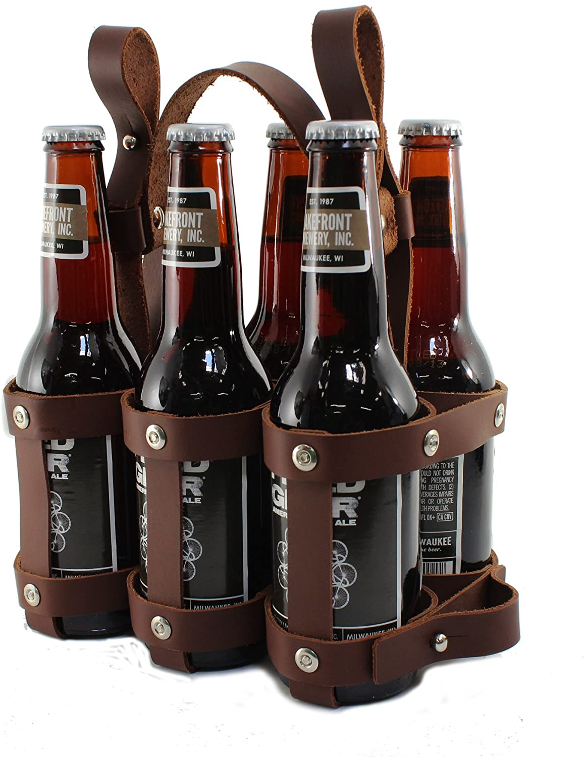 Leather Bicycle Carrier (6-Pack bike beer holder,) 🍺