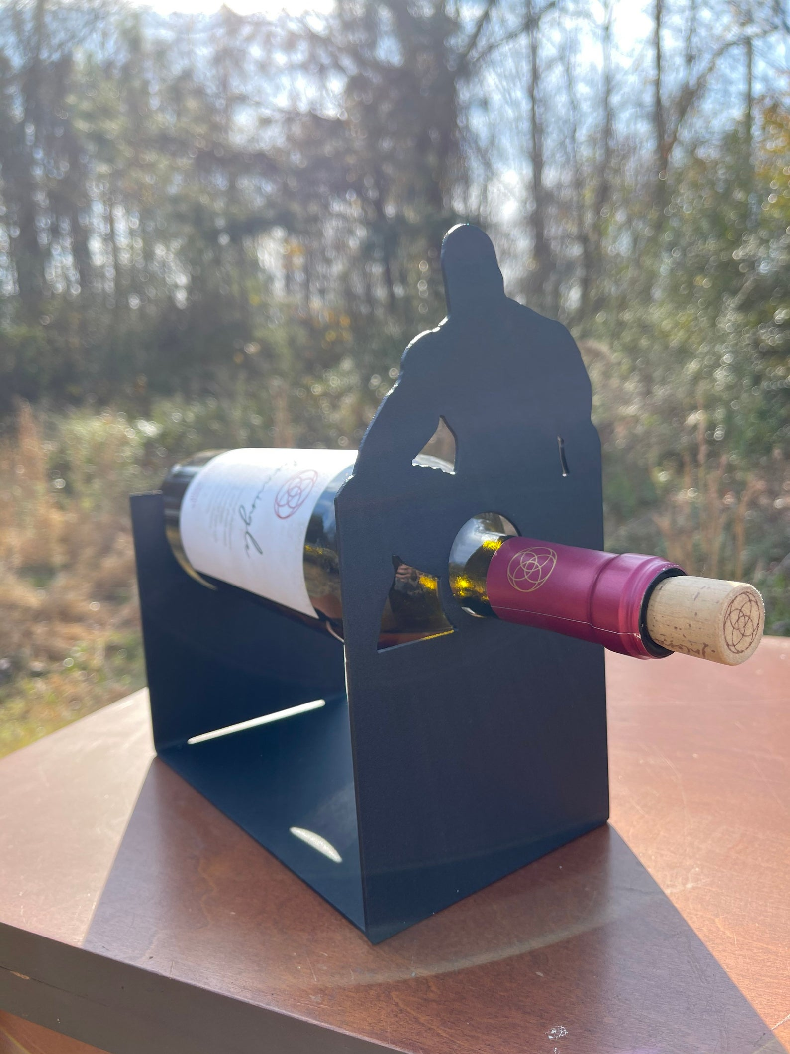 Wine bottle holder (Barry Wood tribute)