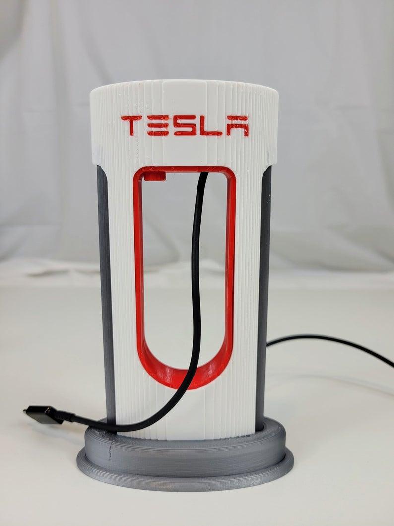 Tesla Charging Station For Your Desktop