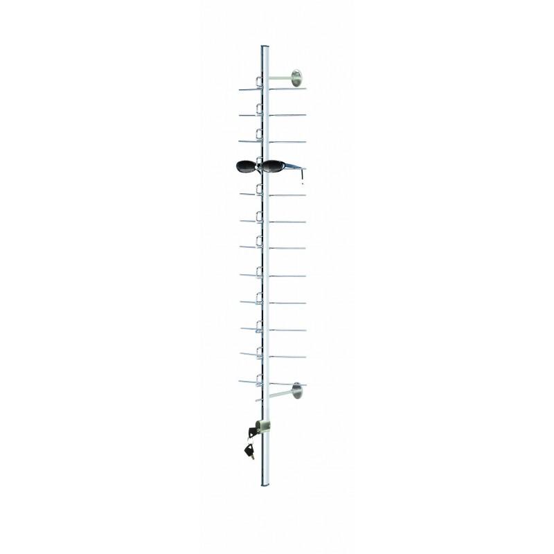 20 position Long 67 inch Lockable Metal Frame Rod