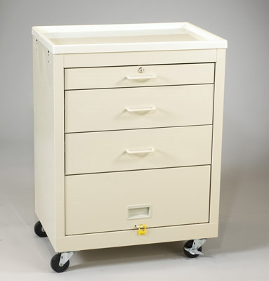 4-Drawer Cart w/Lower Panel