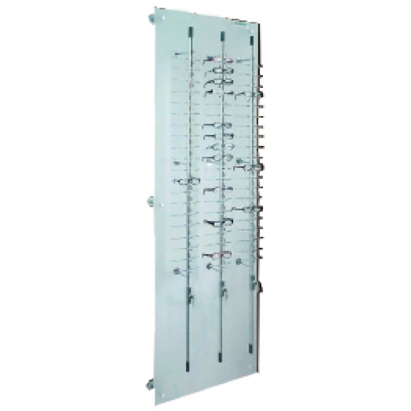 60 Position Lockable Rod Frame Display Wall System